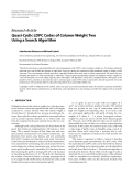 """Báo cáo hóa học: """" Research Article Quasi-Cyclic LDPC Codes of Column-Weight Two Using a Search Algorithm"""""""