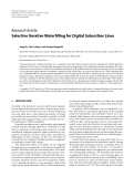 "Báo cáo hóa học: "" Research Article Selective Iterative Waterfilling for Digital Subscriber Lines"""