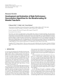 "Báo cáo hóa học: "" Research Article Development and Evaluation of High-Performance Decorrelation Algorithms for the Nonalternating 3D Wavelet Transform"""