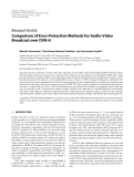 "Báo cáo hóa học: "" Research Article Comparison of Error Protection Methods for Audio-Video Broadcast over DVB-H"""