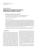 """Báo cáo hóa học: """" Research Article Application of the Evidence Procedure to the Estimation of Wireless Channels"""""""
