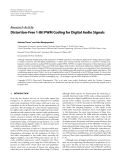 "Báo cáo hóa học: "" Research Article Distortion-Free 1-Bit PWM Coding for Digital Audio Signals"""