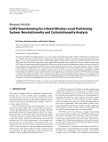 """Báo cáo hóa học: """"  Research Article LCMV Beamforming for a Novel Wireless Local Positioning System: Nonstationarity and Cyclostationarity Analysis"""""""