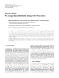 "Báo cáo hóa học: "" Research Article An Energy-Based Similarity Measure for Time Series"""