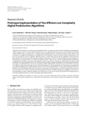 "Báo cáo hóa học: "" Research Article Prototype Implementation of Two Efficient Low-Complexity Digital Predistortion Algorithms"""