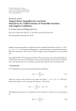 """Báo cáo hóa học: """"  Research Article Integral Means Inequalities for Fractional Derivatives of a Unified Subclass of Prestarlike Functions with Negative Coefficients"""""""