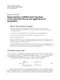"Báo cáo hóa học: "" Research Article Representation of Multivariate Functions via the Potential Theory and Applications to Inequalities"""