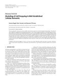 """Báo cáo hóa học: """"  Research Article Modeling of Call Dropping in Well-Established Cellular Networks"""""""