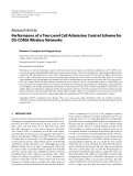 "Báo cáo hóa học: "" Research Article Performance of a Two-Level Call Admission Control Scheme for DS-CDMA Wireless Networks"""
