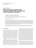 """Báo cáo hóa học: """" Research Article Burst Format Design for Optimum Joint Estimation of Doppler-Shift and Doppler-Rate in Packet Satellite Communications"""""""