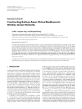 "Báo cáo hóa học: ""  Research Article Constructing Battery-Aware Virtual Backbones in Wireless Sensor Networks"""