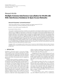 "Báo cáo hóa học: "" Research Article Multiple-Antenna Interference Cancellation for WLAN with MAC Interference Avoidance in Open Access Networks"""