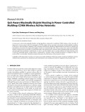 "Báo cáo hóa học: "" Research Article QoS-Aware Maximally Disjoint Routing in Power-Controlled Multihop CDMA Wireless Ad Hoc Networks"""