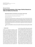 """Báo cáo hóa học: """" Research Article Experimental Evaluation of the Usage of Ad Hoc Networks as Stubs for Multiservice Networks"""""""