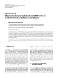 """Báo cáo hóa học: """"  Research Article Characterization and Optimization of LDPC Codes for the 2-User Gaussian Multiple Access Channel"""""""