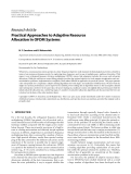 """Báo cáo hóa học: """" Research Article Practical Approaches to Adaptive Resource Allocation in OFDM Systems"""""""