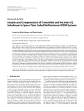 """Báo cáo hóa học: """"  Research Article Analysis and Compensation of Transmitter and Receiver I/Q Imbalances in Space-Time Coded Multiantenna OFDM Systems"""""""