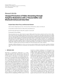 "Báo cáo hóa học: "" Research Article Unequal Protection of Video Streaming through Adaptive Modulation with a Trizone Buffer over Bluetooth Enhanced Data Rate"""