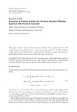 """Báo cáo hóa học: """" Research Article Properties of Positive Solution for Nonlocal Reaction-Diffusion Equation with Nonlocal Boundary"""""""