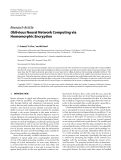 "Báo cáo hóa học: "" Research Article Oblivious Neural Network Computing via Homomorphic Encryption"""