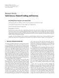 """Báo cáo hóa học: """"  Research Article Joint Source, Channel Coding, and Secrecy"""""""