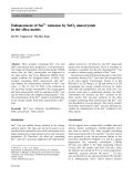 "Báo cáo hóa học: "" Enhancement of Sm3+ emission by SnO2 nanocrystals in the silica matrix"""