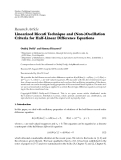 "Báo cáo hóa học: ""Research Article Linearized Riccati Technique and (Non-)Oscillation Criteria for Half-Linear Difference Equations"""