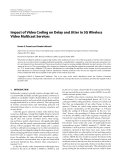 "Báo cáo hóa học: ""  Impact of Video Coding on Delay and Jitter in 3G Wireless Video Multicast Services"""