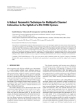 "Báo cáo hóa học: ""  A Robust Parametric Technique for Multipath Channel Estimation in the Uplink of a DS-CDMA System"""