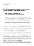 "Báo cáo hóa học: ""  Cross-Layer Quality-of-Service Analysis and Call Admission Control in the Uplink of CDMA Cellular Networks"""
