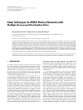 """Báo cáo hóa học: """"  Relay Techniques for MIMO Wireless Networks with Multiple Source and Destination Pairs"""""""