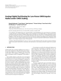 "Báo cáo hóa học: ""  Analog-Digital Partitioning for Low-Power UWB Impulse Radios under CMOS Scaling"""