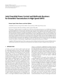 """Báo cáo hóa học: """" Joint Downlink Power Control and Multicode Receivers for Downlink Transmissions in High Speed UMTS"""""""
