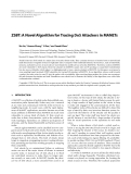 """Báo cáo hóa học: """" ZSBT: A Novel Algorithm for Tracing DoS Attackers in MANETs"""""""