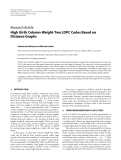 "Báo cáo hóa học: ""  Research Article High Girth Column-Weight-Two LDPC Codes Based on Distance Graphs"""