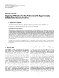 "Báo cáo hóa học: ""  Research Article Capacity of Wireless Ad Hoc Networks with Opportunistic Collaborative Communications"""