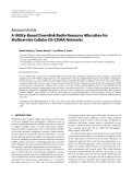"""Báo cáo hóa học: """"  Research Article A Utility-Based Downlink Radio Resource Allocation for Multiservice Cellular DS-CDMA Networks"""""""