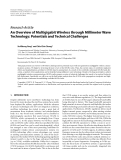 """Báo cáo hóa học: """"  Research Article An Overview of Multigigabit Wireless through Millimeter Wave Technology: Potentials and Technical Challenges"""""""