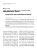"Báo cáo hóa học: "" Research Article Profile-Matching Techniques for On-Demand Software Management in Sensor Networks"""