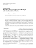 "Báo cáo hóa học: ""  Research Article Evaluation of Cross-Layer Rate-Aware Routing in a Wireless Mesh Network Test Bed"""