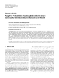 """Báo cáo hóa học: """"  Research Article Adaptive Probabilistic Tracking Embedded in Smart Cameras for Distributed Surveillance in a 3D Model"""""""