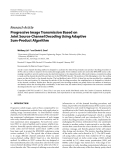 """Báo cáo hóa học: """"  Research Article Progressive Image Transmission Based on Joint Source-Channel Decoding Using Adaptive Sum-Product Algorithm"""""""