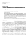 "Báo cáo hóa học: ""  Research Article JPEG2000 Compatible Lossless Coding of Floating-Point Data"""