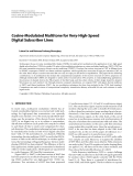 "Báo cáo hóa học: "" Cosine-Modulated Multitone for Very-High-Speed Digital Subscriber Lines"""