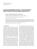 """Báo cáo hóa học: """" Computationally Efficient Direction-of-Arrival Estimation Based on Partial A Priori Knowledge of Signal Sources"""""""