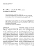 """Báo cáo hóa học: """"  Time of Arrival Estimation for UWB Localizers in Realistic Environments"""""""