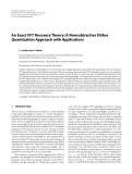 "Báo cáo hóa học: "" An Exact FFT Recovery Theory: A Nonsubtractive Dither Quantization Approach with Applications"""