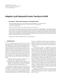 "Báo cáo hóa học: ""  Adaptive Local Polynomial Fourier Transform in ISAR"""
