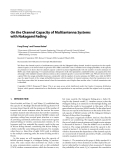 "Báo cáo hóa học: "" On the Channel Capacity of Multiantenna Systems with Nakagami Fading"""