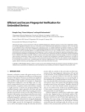 """Báo cáo hóa học: """"Efficient and Secure Fingerprint Verification for Embedded Devices"""""""